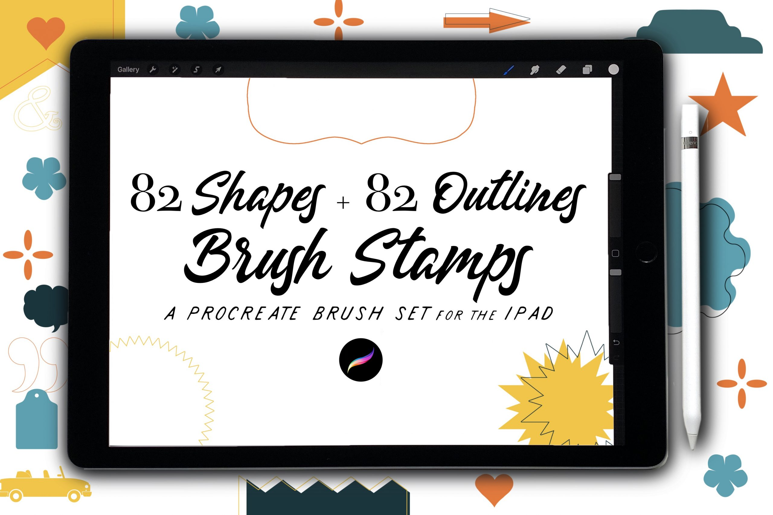 82 Shape Stamps + Outlines
