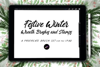 Festive Winter Wreath Brushes & Stamps