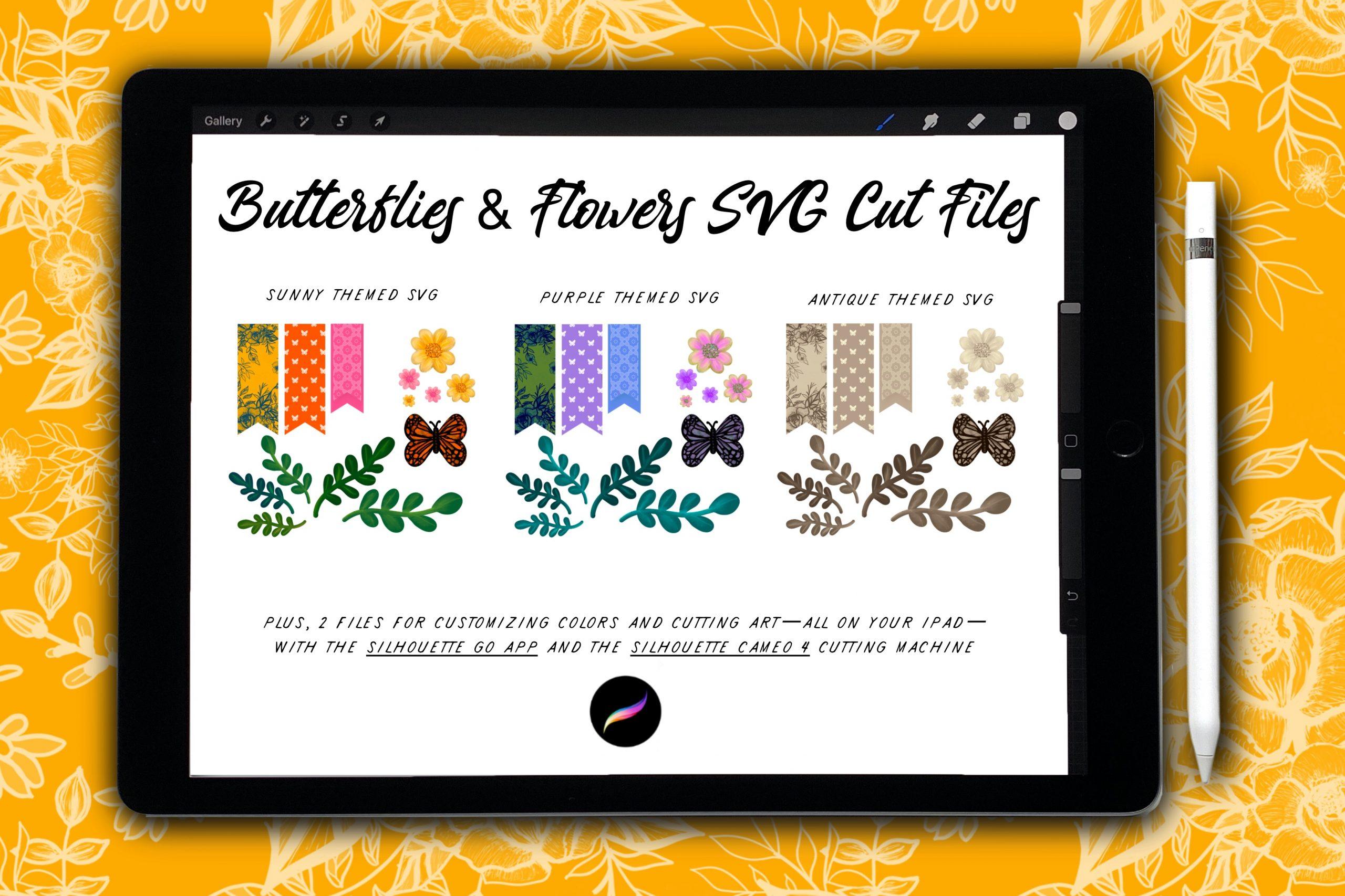 Butterflies & Flowers SVG Kit