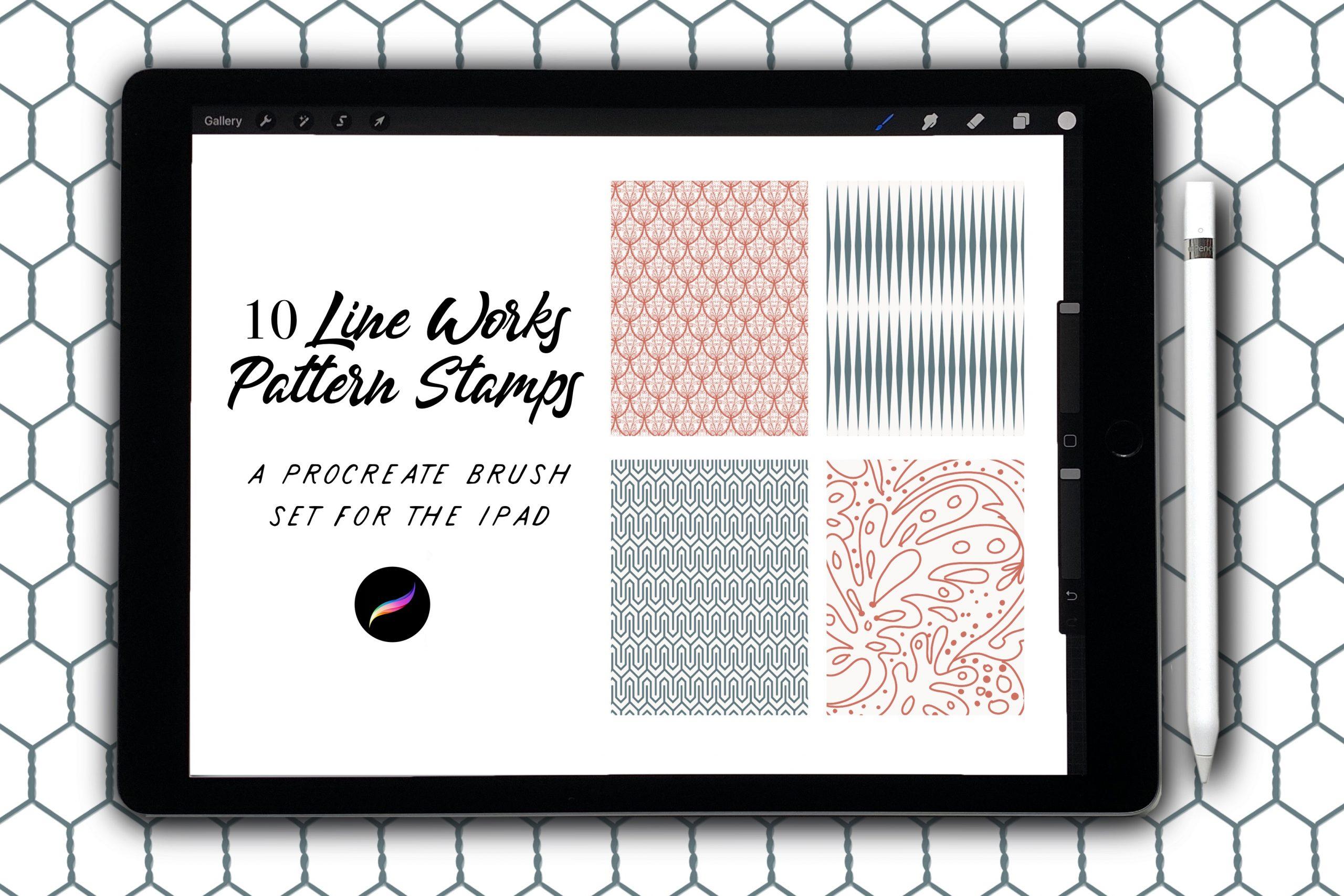 Line Works Patterned Stamps