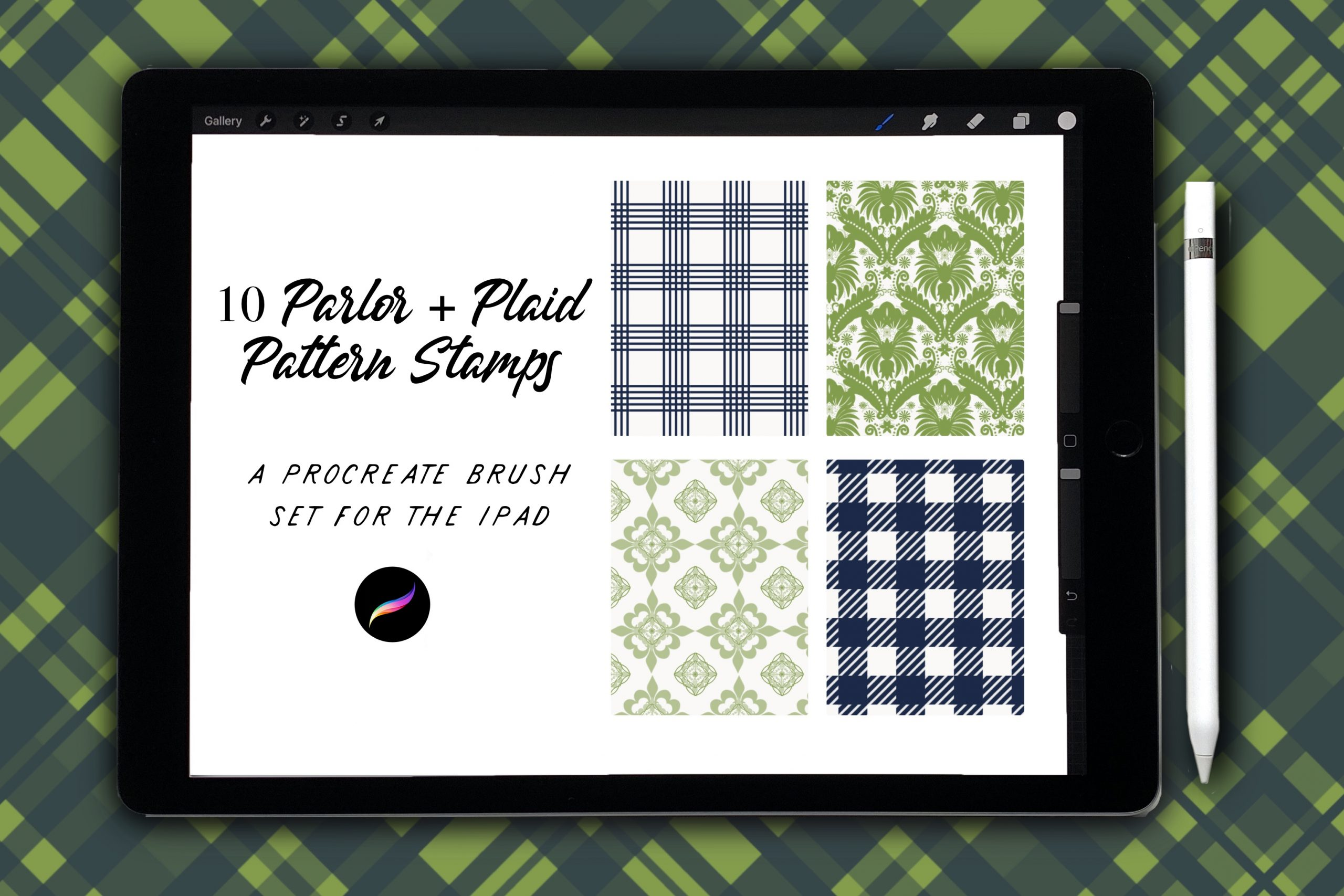 10 Parlor & Plaid Pattern Stamps