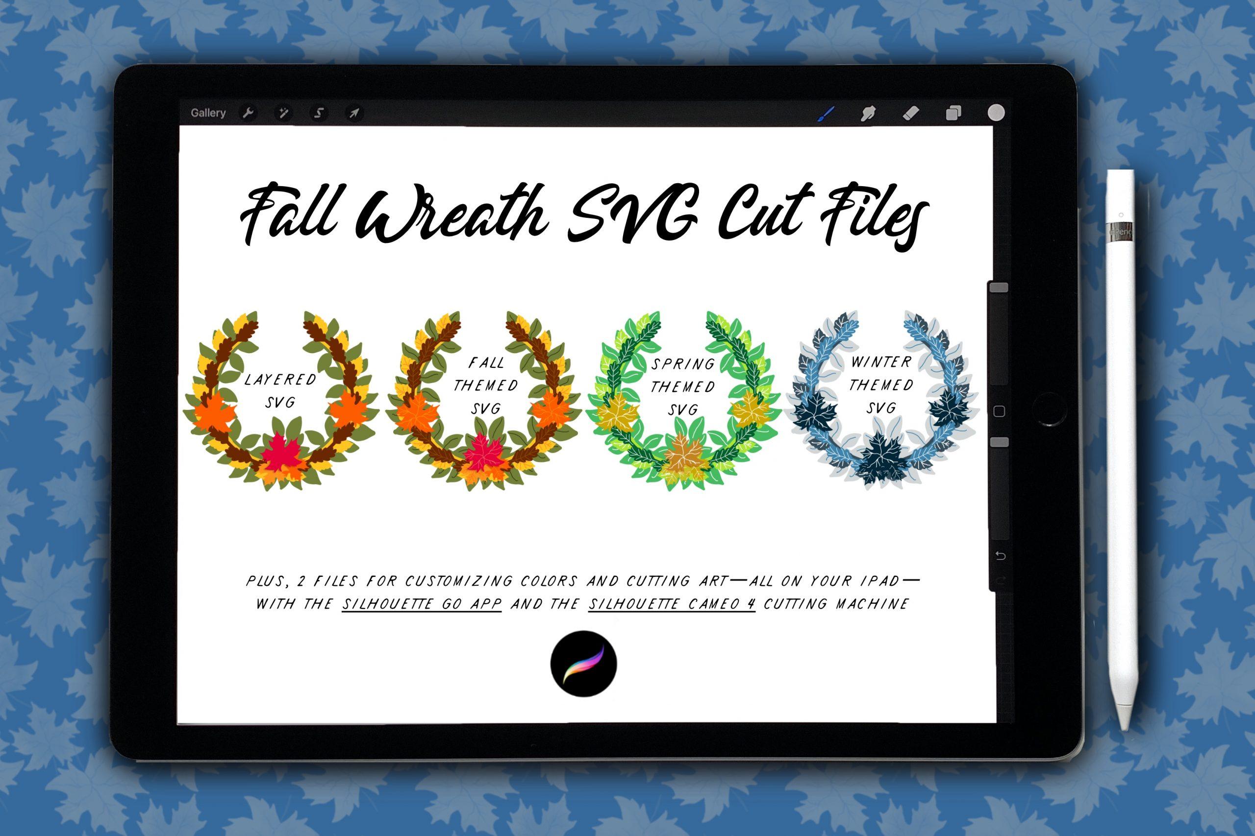 '21 Fall Wreath SVG Kit