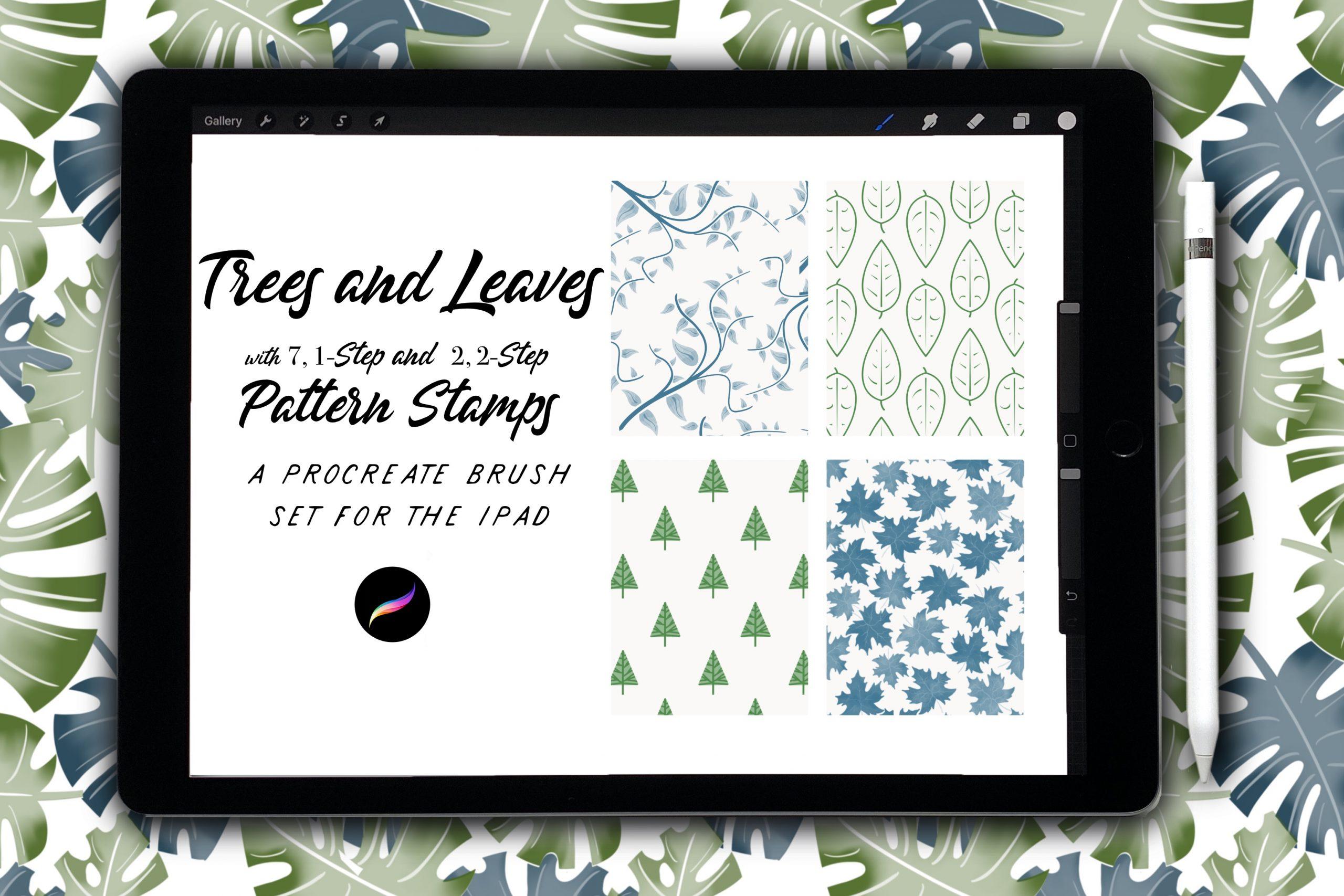 Trees & Leaves Pattern Set