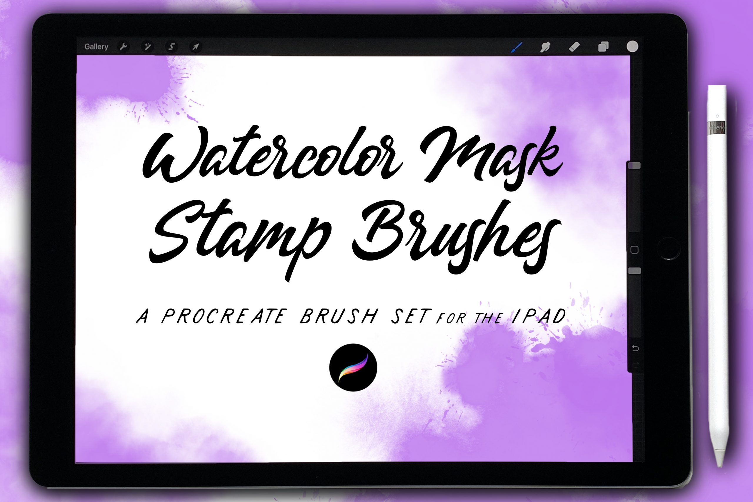 Clipping Masks/Photo Effect Watercolor Stamps